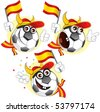 Cartoon football character emotions- Spain - stock photo