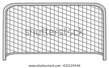 Cartoon Football Gate. Vector Illustration Isolated On White Background - stock vector