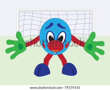 Cartoon football goalkeeper - stock vector