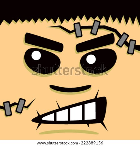 Cartoon Frank Face - stock vector