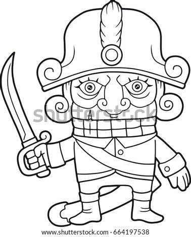 Cartoon Funny Nutcracker Coloring Book Stock Vector 664197538 ...