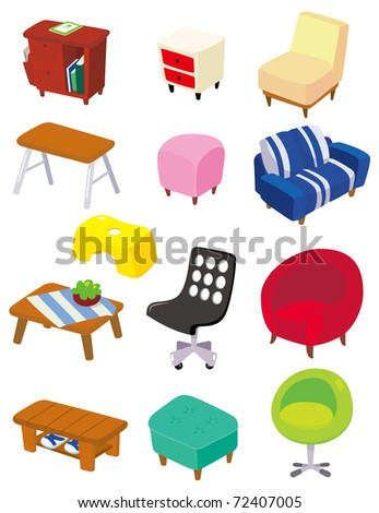 cartoon Furniture icon - stock vector