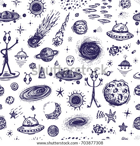 Cartoon galaxy vector universe outer space stock vector for Outer space pattern