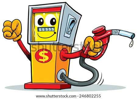 cartoon gas station stock vector 2018 246802255 shutterstock rh shutterstock com cartoon gas station cartoon gas pump picture