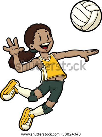 Gallery For gt Beach Volleyball Player Cartoon