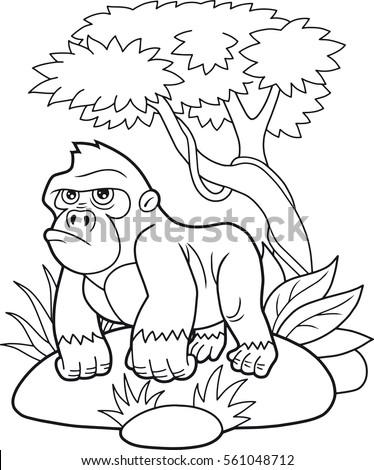 cartoon-gorilla stock images, royalty-free images & vectors ... - Silverback Gorilla Coloring Pages