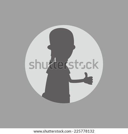 cartoon guy silhouette