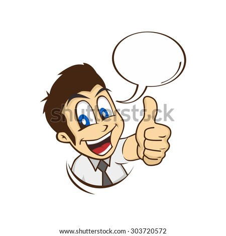 Cartoon Guy Thumbs Stock Vector 301690670 - Shutterstock