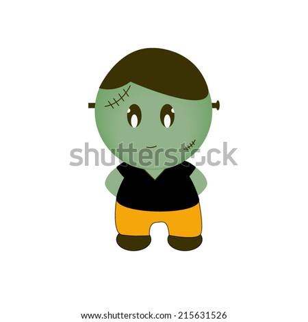 Cartoon Halloween Monster. Cute - stock vector