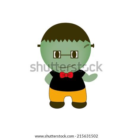 Cartoon Halloween Monster. Gentlemen - stock vector