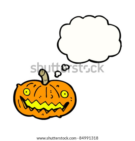 cartoon halloween pumpkin lantern