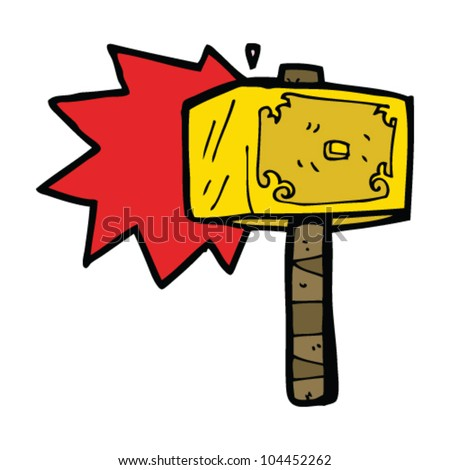cartoon hammer thor stock vector 104452262 shutterstock