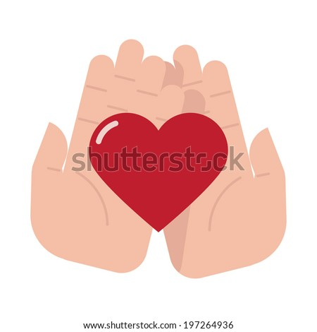 Cartoon Hands Holding a Heart Cartoon Hands Holding Heart on