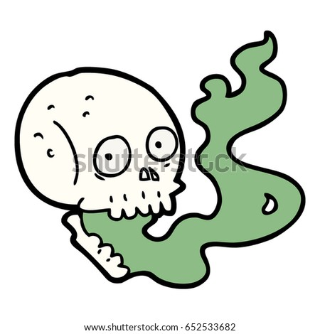 cartoon haunted skull