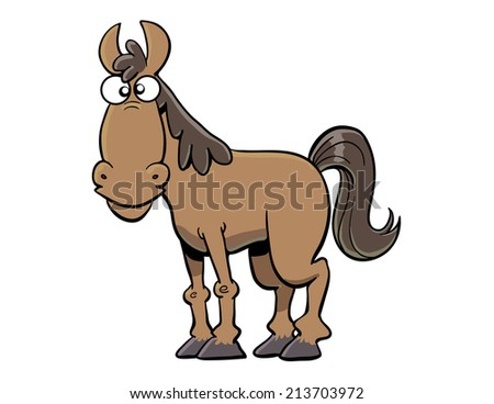 Cartoon Horse - stock vector