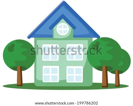 Cartoon icon of house