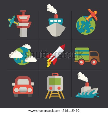 Cartoon icons,clean vector - stock vector
