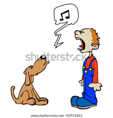 singing dog stock photos royaltyfree images amp vectors