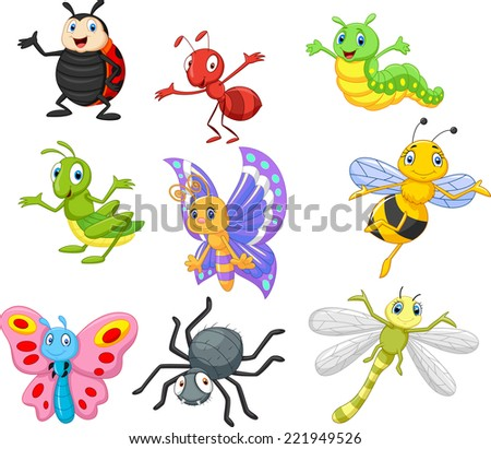 Cartoon insect - stock vector