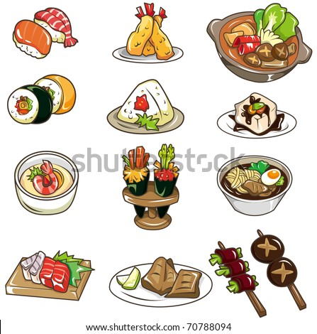 cartoon Japanese food icon - stock vector
