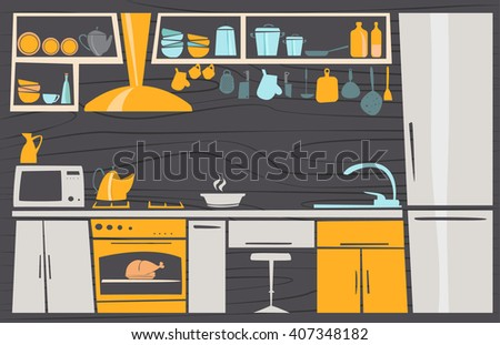 kitchen design cartoon kitchen stock images royalty free images 857