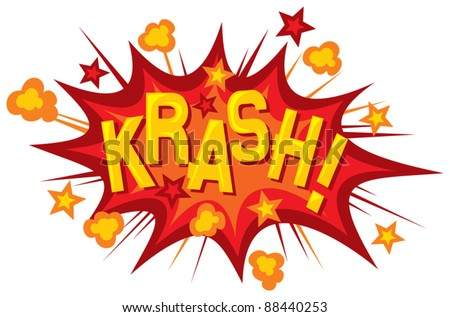 cartoon - krash (comic book element) - stock vector