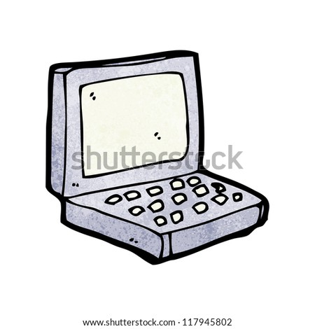 cartoon laptop