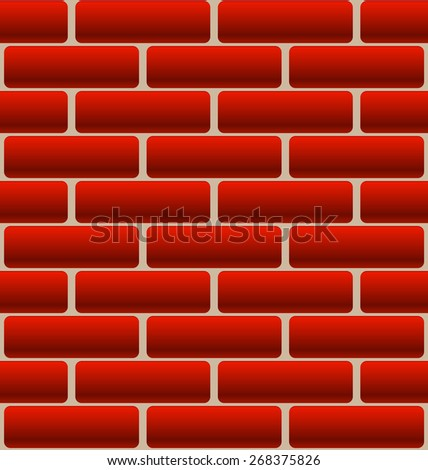 Cartoon-Like Brick Wall Texture - stock vector