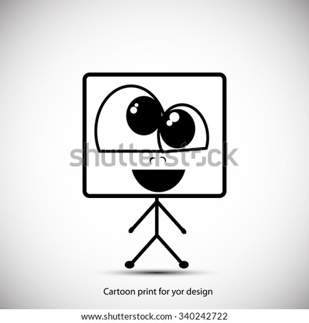 cartoon little abstract personage for your design - stock vector