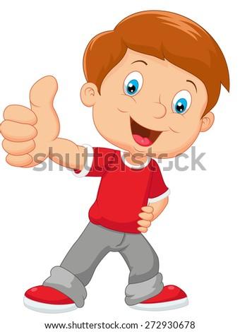 Cartoon little boy giving thumb stock vector 272930678 - Cartoon boy wallpaper ...