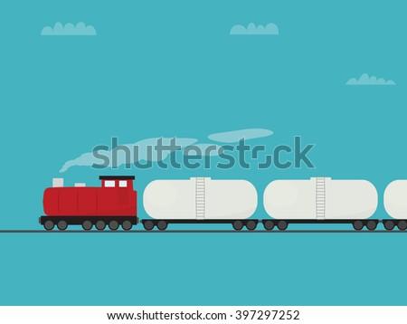 cartoon locomotive - stock vector