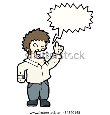 cartoon man complaining - stock vector
