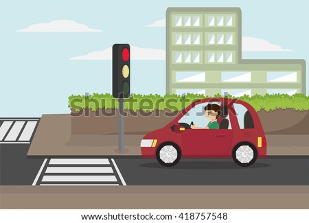 Car Stopping Before Car Accident