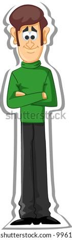 Cartoon man, father - stock vector