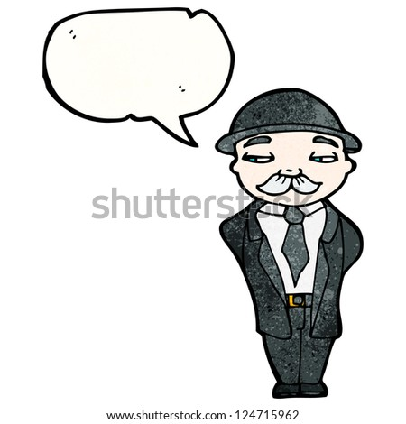 Cartoon Man Bowler Hat Stock Vector 124715962 Shutterstock