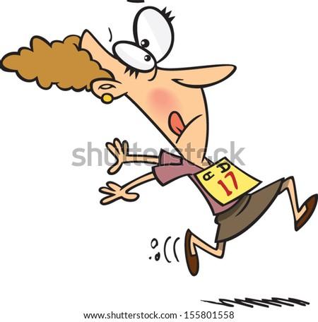 cartoon man running racer bib on stock vector 155801558 shutterstock rh shutterstock com Office Olympics Cartoon Running for Office Clip Art
