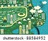 cartoon map of rio de janeiro - stock vector