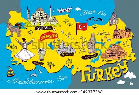 Turkey Map Stock Images RoyaltyFree Images Vectors Shutterstock - Turkey map