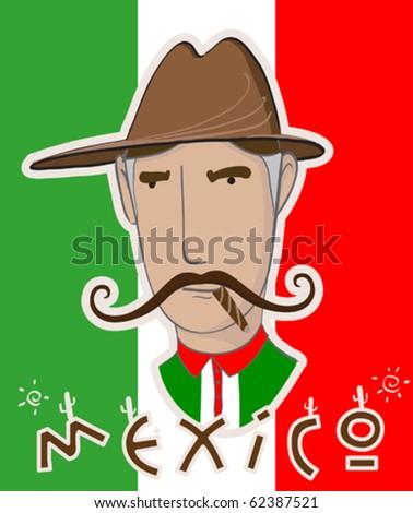 cartoon mexican boss - stock vector