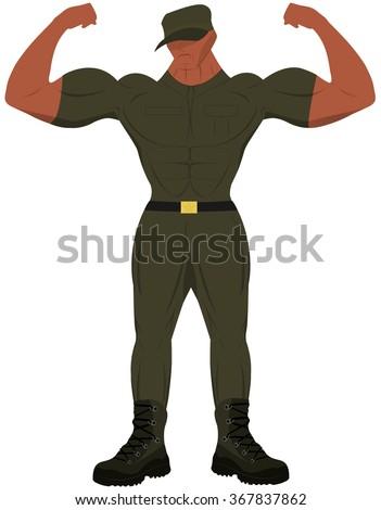 cartoon bodybuilder stock vectors amp vector clip art