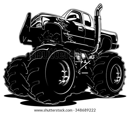 Cartoon Monster Truck - stock vector