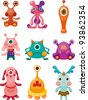 cartoon Monsters icons set - stock photo