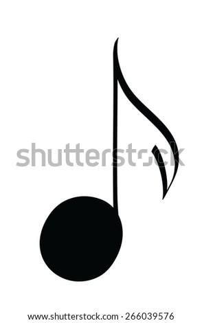 cartoon musical notes icon, vector illustration design  element - stock vector