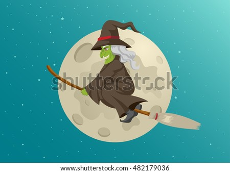 Flying Witch Stock Images Royalty Free Images Amp Vectors