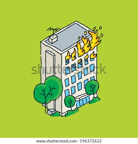 how to leave a burning building