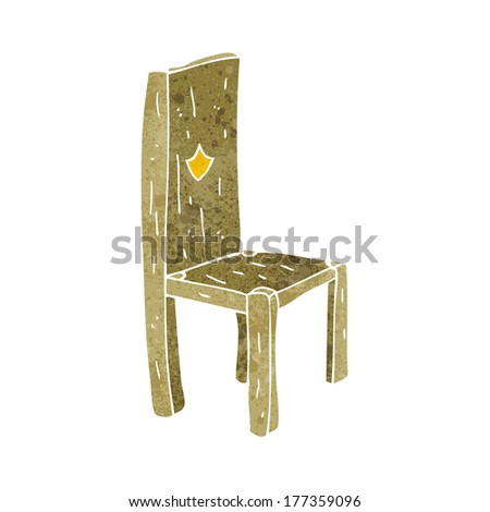 cartoon old chair