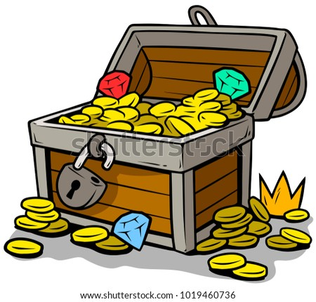 treasure chest lock coloring pages - photo#34