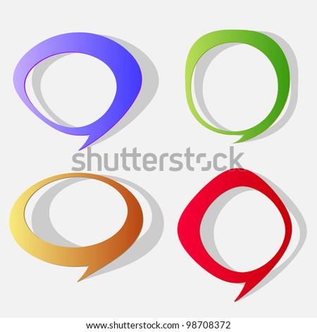Cartoon paper bubbles for speech.Vector eps10 - stock vector