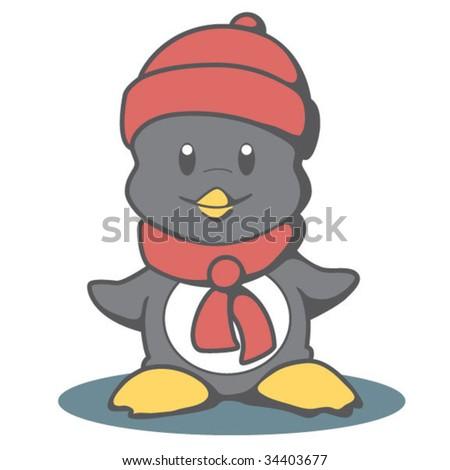 Cartoon Penguin - stock vector