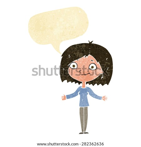 cartoon person with speech bubble - stock vector